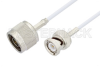 N Male to BNC Male Cable 24 Inch Length Using RG188 Coax -- PE3C3379-24 -Image
