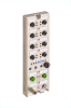 LioN-P, Multiprotocol Distributed Control Unit, 8DI 8DO (8x M12), M12 L-coded Power Supply, Metal, 60 mm -- 0980 ESL 393-121-DCU1 -Image