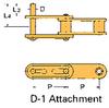 Double Pitch Conveyor Lambda Chain Attachment -- C2040-LAMBDA-D-1 - Image