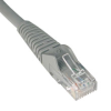 Cat6 Gigabit Snagless Molded Patch Cable(RJ45 M/M) - Gray, 15-ft. -- N201-015-GY - Image