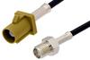 SMA Female to Curry FAKRA Plug Cable 12 Inch Length Using PE-C100-LSZH Coax -- PE39344K-12 -Image
