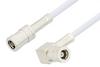 SMB Plug to SMB Plug Right Angle Cable 48 Inch Length Using RG188 Coax, RoHS -- PE3592LF-48 -Image
