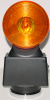 Battery Powered Strobe Light - Hazard Flashing Lights with Magnetic Base - AMBER LENSES - HDFL-AA -- HDFL-AA