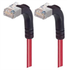 Shielded Category 6 Right Angle Patch Cable, Right Angle Up/Right Angle Up, Red, 25.0 ft -- TRD695SRA5RD-25 -Image