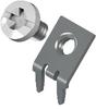 Slim-Line PC Screw Terminal, 45°- White screw Unassembled -- 8185-4 -Image
