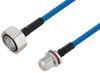 Plenum 7/16 DIN Male to N Female Bulkhead Low PIM Cable 200 cm Length Using SPP-250-LLPL Coax Using Times Microwave Parts -- PE3C6191-200CM -Image