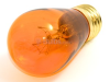 11 Watt, 130 Volt S14 Transparent Amber Sign/Indicator Bulb -- B701211