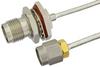 SMA Male to TNC Female Bulkhead Semi-Flexible Precision Cable 6 Inch Length Using PE-SR405FL Coax, LF Solder, RoHS -- PE39475-6 -Image