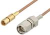 SMA Male to SSMC Plug Cable 48 Inch Length Using RG178 Coax -- PE3C4391-48 -Image