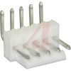 .100 IN RT ANGLE HEADER; 5 CIRCUITS **white** -- 70191014 - Image