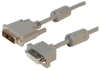 Premium Panel Mount DVI-D Single Link Male/Female Cable Assembly 3ft -- MDA00047-3F -Image