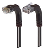 Category 6 LSZH Right Angle Patch Cable, Right Angle Up/Right Angle Down, Black, 2.0 ft -- TRD695ZRA4BLK-2 -Image