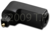 Toslink Plug To Toslink Jack Right Angle Adaptor -- FOA-AUDT2MF-R
