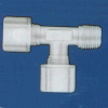 Jaco - Kynar, Nylon, And Polypropylene Tube And Hose Tube-To-MPT-To-Tube Tee Fitting -- 61198