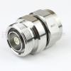 7/16 DIN Male (Plug) to 7/16 DIN Female (Jack) Adapter IP67 Mated, Tri-Metal Plated Brass Body, 1.15 VSWR -- SM4401 - Image
