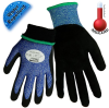 Global Glove Samurai Glove Blue/Black Large HPPE Cold Condition Gloves - Latex Foam Palm & Fingers Coating - Terry Insulation - CR317INT LG -- CR317INT LG