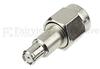 SMA Male (plug) to RP MCX Male (Plug) Adapter, Nickel Plated Brass Body, 1.2 VSWR -- SM4800 - Image