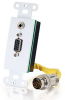 RapidRun® HD15 + 3.5mm Stereo Audio Wall Plate - White -- 2212-40854-001 - Image