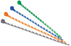 Plastic Cable Ties : Plastic Cable Ties One Piece : Locking Ties : Striped & Telephone Cable Ties & Kits -- PLT1M-L6-10