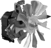 Circulation Blowers for Hot Air -- RRL120-3020LH