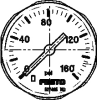Pressure gauge -- MA-27-160-M5-PSI -Image