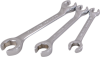 3 Pieces 6 Point SAE Chrome Flare Nut Wrench Set -- FL3S - Image
