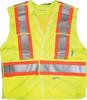 L/XL 5 Point Lime Green Safety Vest -- 8377475