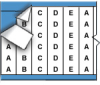 Consecutive Letters Repeated Wire Marker Card (B-500; Black on White; A-E; 1.50
