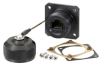 Ruggedized Flange Mount, Anodized finish with Mounting Hardware and Dust Cap -- T5C00015