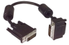DVI-D Dual Link DVI Cable Male / Male Right Angle, Bottom 0.5 m -- MDA00029-05M -Image