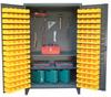 Upright Tool Storage Cabinet with Bins -- 46-BS-PB-242