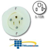 Leviton Flanged Outlet Receptacle -- 5279-C