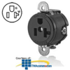 Leviton Short Strap Single Receptacle with Straight Blade.. -- 5558-SS - Image