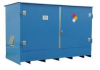 IBC Tote Locker,88 x 153 x 70 In,Blue -- 9AM05