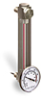 (Formerly B1559-2-S01X04), Steel Liquid Level Gage with Dial Thermometer, 5