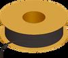 Flexible Tubing, 90 Shore A, Black Opaque -- AP02PV121VBK
