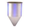 Stainless Steel Seamless Hopper Funnel, 4.9 Gal., 11.83