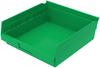 Bin, Shelf Bin 11-5/8 x 11-1/8 x 4, Green -- 30170GREEN
