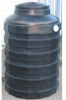 175 Gallon Quadel Titan Vertical Water Storage Tank - Black -- QI-1009