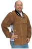 Quality Side Split Cowhide Welding Cape Sleeve and 14