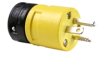 Pass & Seymour® -- Rubber Housing Plug, Yellow - 1448