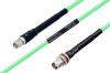 Temperature Conditioned SMA Male to TNC Female Bulkhead Low Loss Cable 24 Inch Length Using PE-P142LL Coax -- PE3M0130-24 -Image