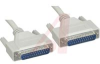 Cable; DB25 female/DB25 male; protocol:RS-232; 2 ft lngth; 25x28 AWG -- 70159524