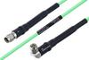 Temperature Conditioned SMA Male to SMA Male Right Angle Low Loss Cable 8 Inch Length Using PE-P160LL Coax -- PE3M0182-8 -Image