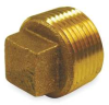 Cored Plug,Red Brass,1 1/2 In,150 PSI -- 1VFT2 - Image