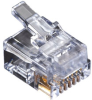 RJ-11 Modular Connector, 6-Wire, Single-Pack -- FM015
