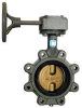 Butterfly Valve,Lug,Pipe Size 6 In -- 5MPD4