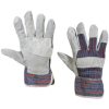 Leather Palm w/ Safety Cuff Gloves - Large -- GLV1021L -- View Larger Image