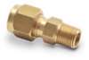 Brass Compression Fitting for 1/4 inch diameter temperature probes -- BCF14-125N - Image