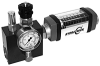 Inline Flow Meter with Integral Load-Cell, Safety Relief Valve and Reverse Flow